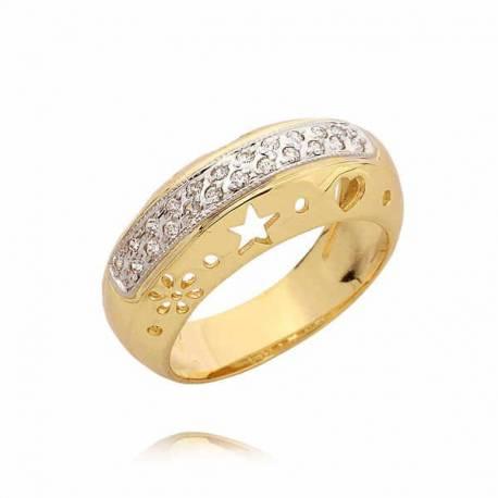 Złoty pierścionek PB44