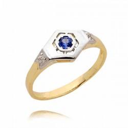 Złoty pierścionek PB46