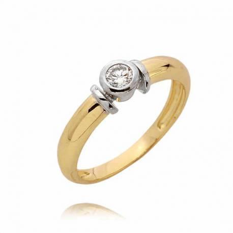 Złoty pierścionek PB55