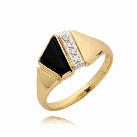Złoty pierścionek PB56