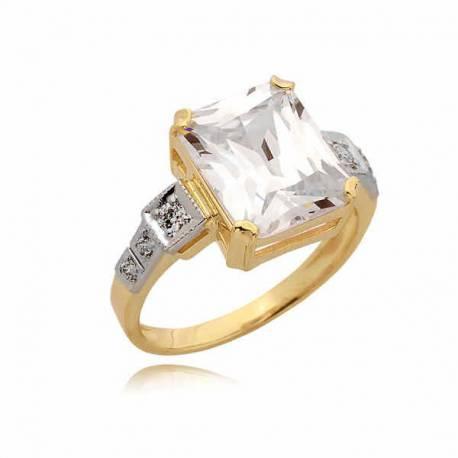 Złoty pierścionek PB63