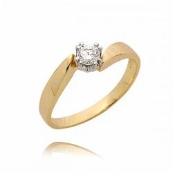 Złoty pierścionek PB73