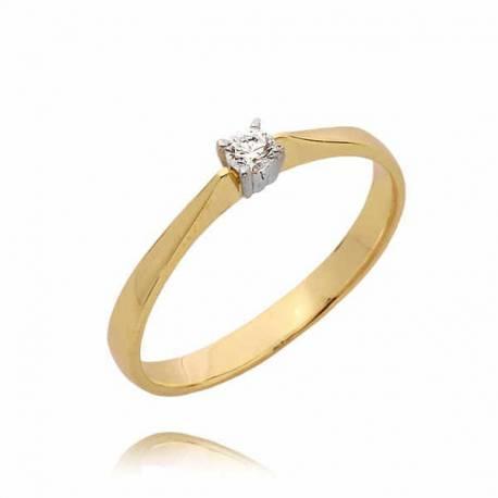Złoty pierścionek PB78