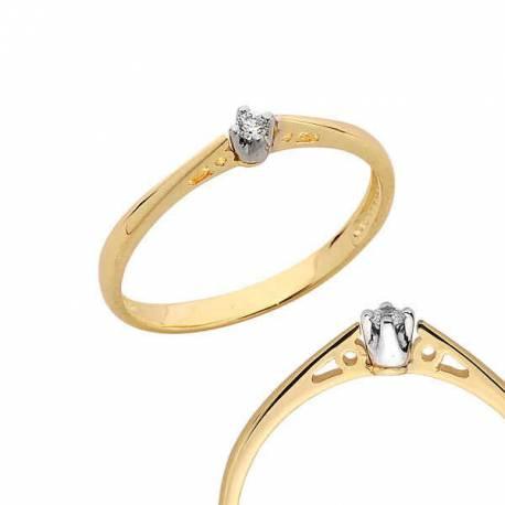 Złoty pierścionek PB98