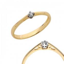 Złoty pierścionek PB101