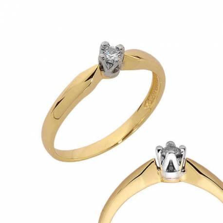 Złoty pierścionek PB107