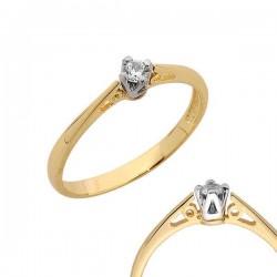 Złoty pierścionek PB110