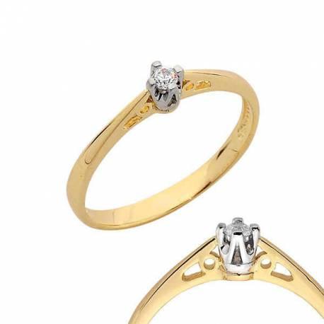 Złoty pierścionek PB112