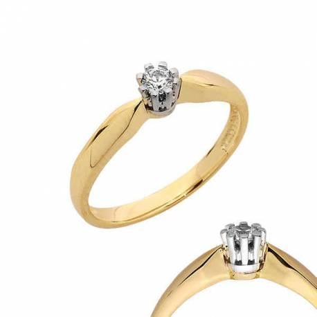 Złoty pierścionek PB116