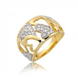 Złoty pierścionek P1714