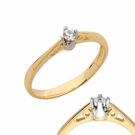 Złoty pierścionek PB118