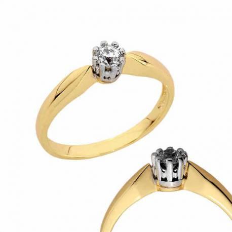 Złoty pierścionek PB126