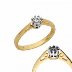 Złoty pierścionek PB131