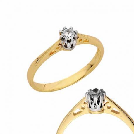 Złoty pierścionek PB132