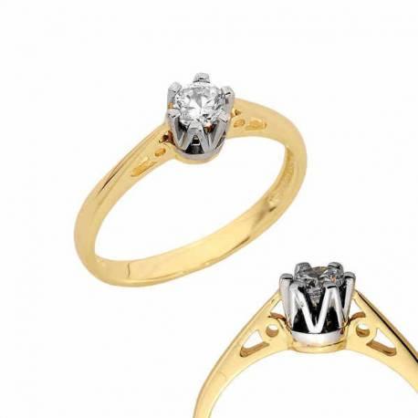 Złoty pierścionek PB140