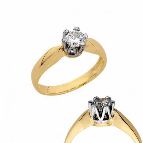 Złoty pierścionek PB155