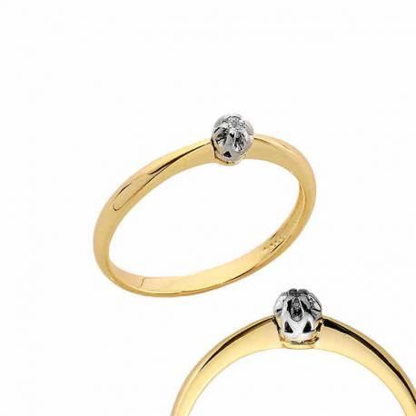 Złoty pierścionek PB163