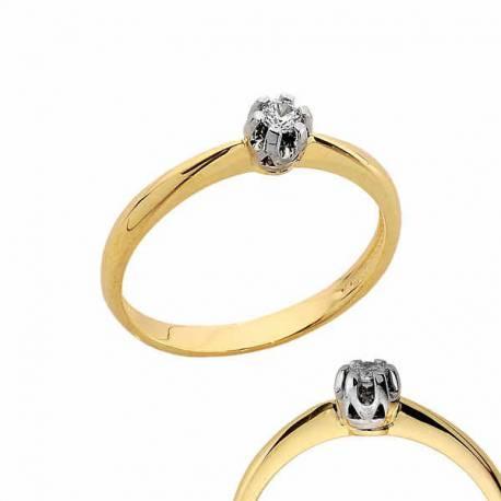 Złoty pierścionek PB164