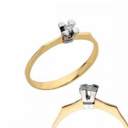 Złoty pierścionek PB175