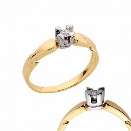 Złoty pierścionek PB176
