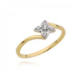 Złoty pierścionek P1658