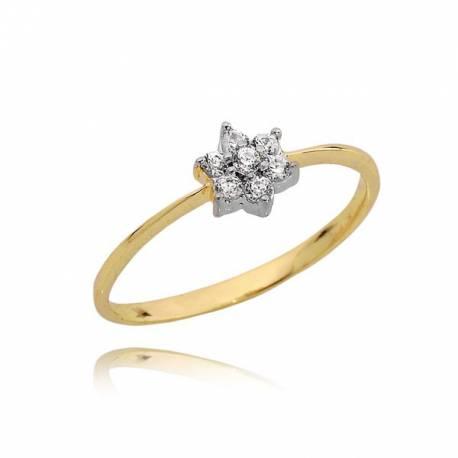 Złoty pierścionek P1655