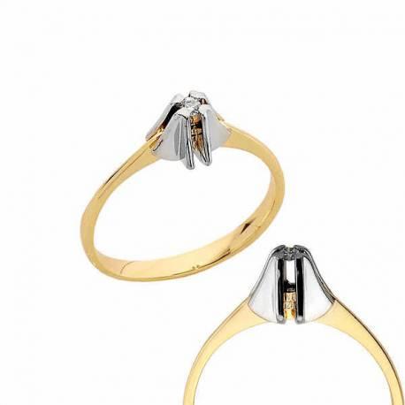 Złoty pierścionek PB183