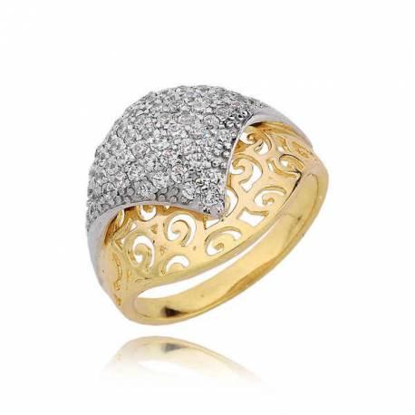 Złoty pierścionek PB186