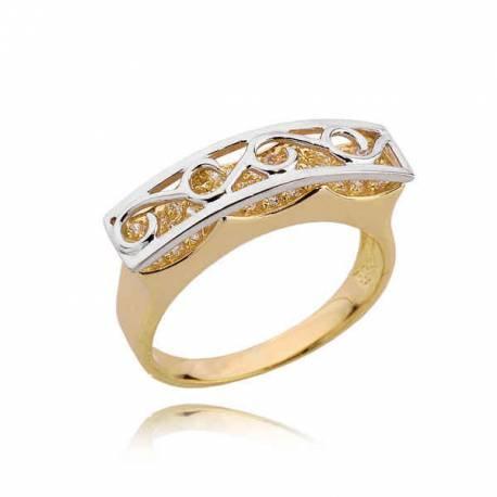 Złoty pierścionek PB204