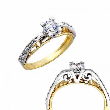 Złoty pierścionek PB246