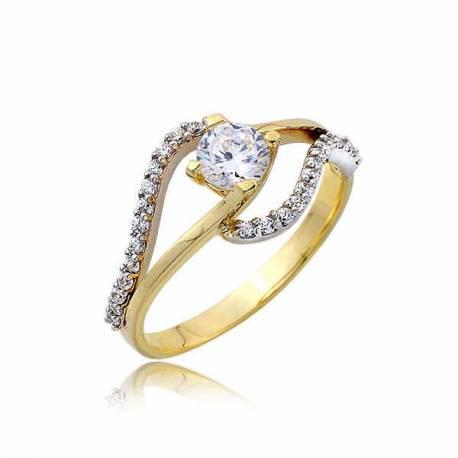 Złoty pierścionek PB247