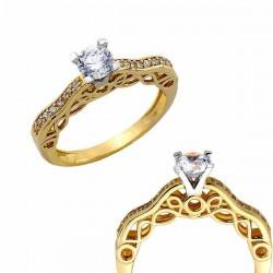 Złoty pierścionek PB255
