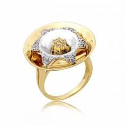 Złoty pierścionek PB256