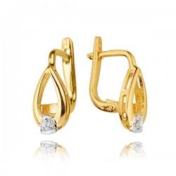 Kolczyki złote z cyrkoniami KB3