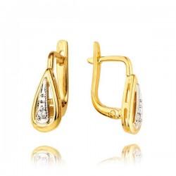 Kolczyki złote z cyrkoniami KB8