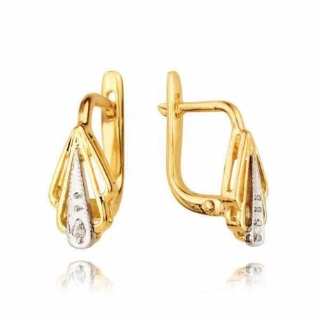 Kolczyki złote z cyrkoniami KB11