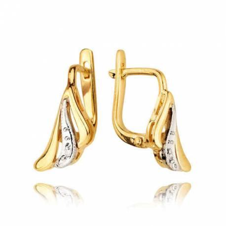 Kolczyki złote z cyrkoniami KB16