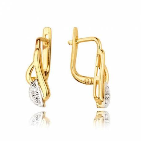 Kolczyki złote z cyrkoniami KB18