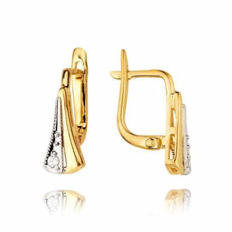 Kolczyki złote z cyrkoniami KB38